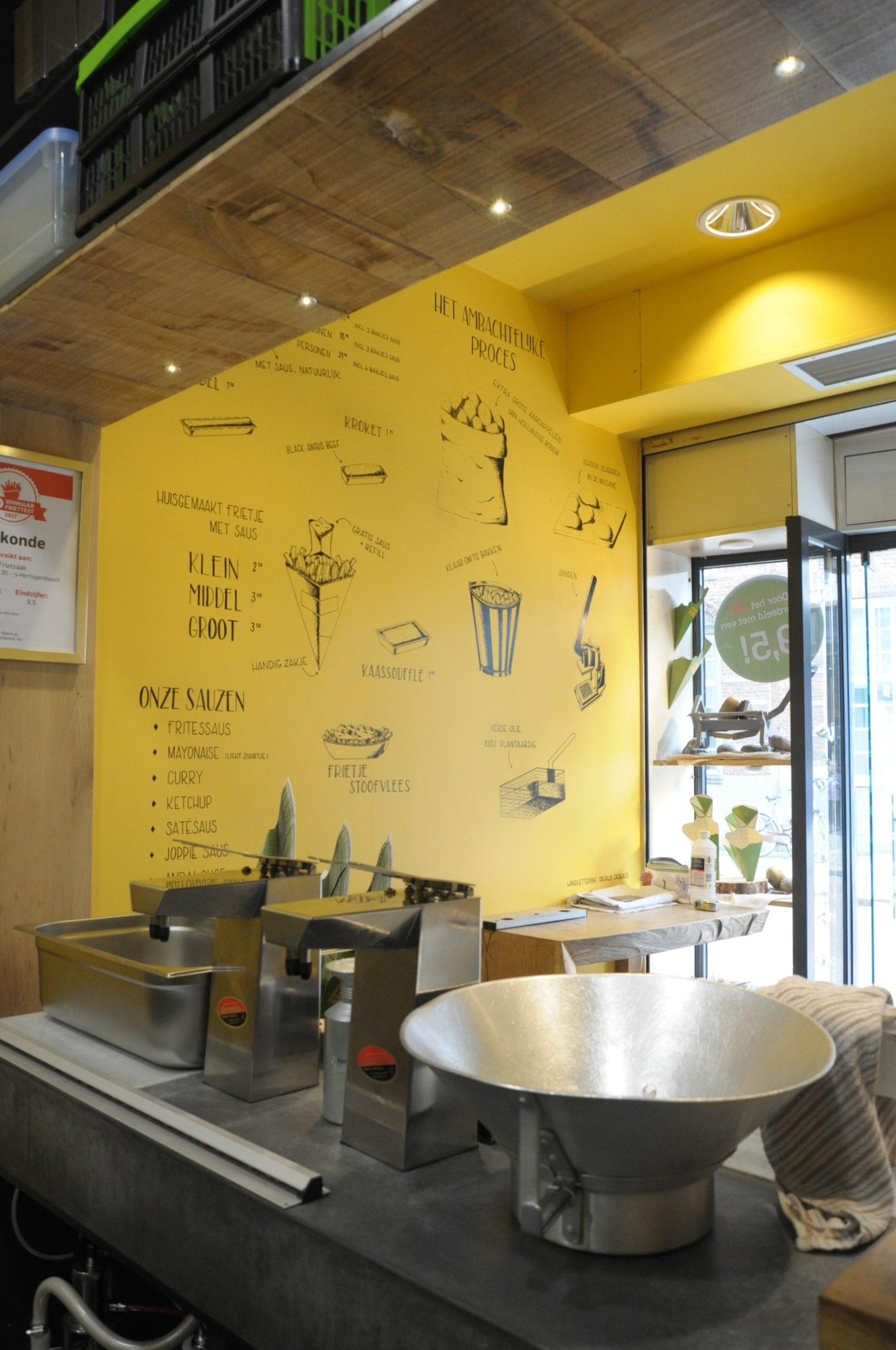 Muurtekening De Frietzaak - Den Bosch